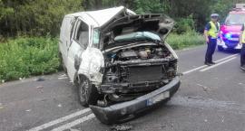 Dachowanie VW. Kierowca był pijany [zdjęcia]