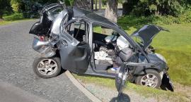 Cztery samochody zderzyły się na krajówce