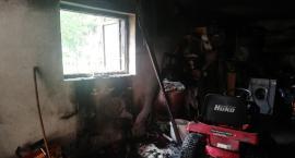 Płonął garaż w Regiminie