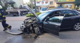 Audi zderzyło się z ciężarówką w gminie Sońsk [zdjęcia]