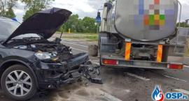 AKTUALIZACJA: Wypadek przy rondzie [zdjęcia]