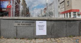 Dodatkowe ostrzeżenia na ciechanowskich fontannach