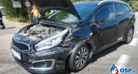 Trzy samochody zderzyły się pod Glinojeckiem [zdjęcia]