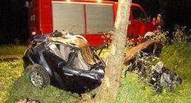 Zjechał do rowu i uderzył w drzewo. Jedna osoba nie żyje.