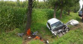 Groźny wypadek pod Ojrzeniem: Dwie osoby ranne