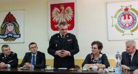 Komendant Wojewódzki Straży Pożarnej gościł w Ciechanowie (zdjęcia)