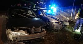 Groźny wypadek niedaleko Ciechanowa. Dwie młode osoby ranne [zdjęcia]