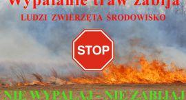 Wypalanie traw - zjawisko niedozwolone i bardzo niebezpieczne