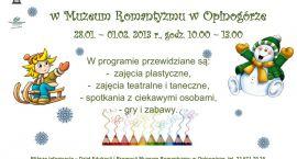 Aktywne ferie w Muzeum Romantyzmu w Opinogórze
