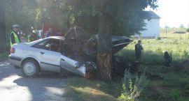 Audi uderzyło w drzewo. Jedna osoba zginęła