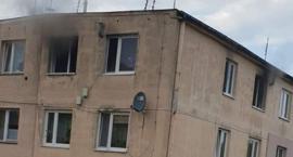 Pożar mieszkania w gminie Sońsk [zdjęcia]