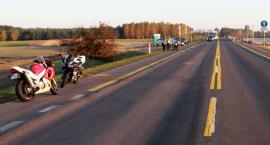 Zderzenie motocyklistów na krajówce