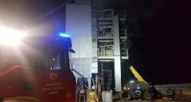 Pożar w gminie Sońsk. Ogień pojawił się w suszarni [zdjęcia]