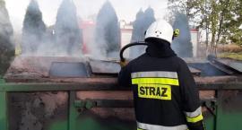 Pożar przy cmentarzu [zdjęcia]