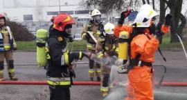 Działania straży pożarnej na terenie ciechanowskiej mleczarni [zdjęcia]