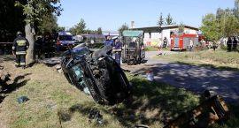 Sześć osób rannych w wypadku. Audi zderzyło się z ciągnikiem (zdjęcia)