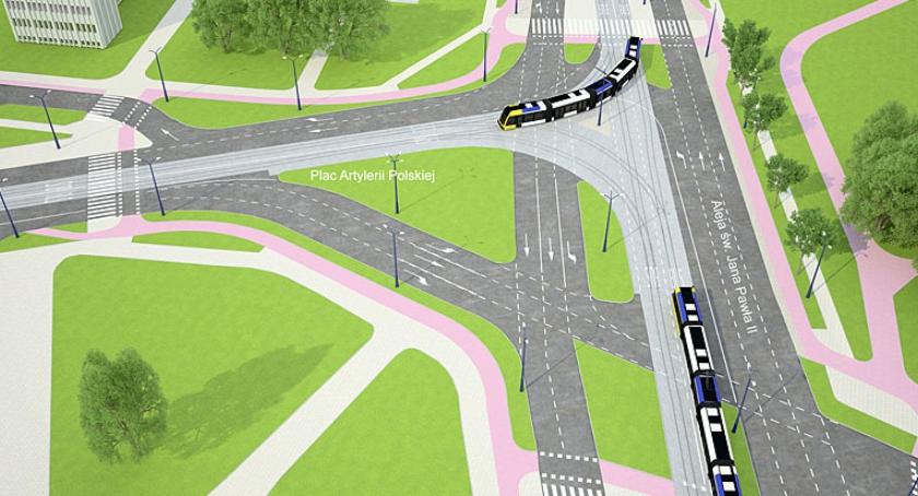 Drogi, Tramwaj centrum miasta Zobacz wizualizacje! - zdjęcie, fotografia