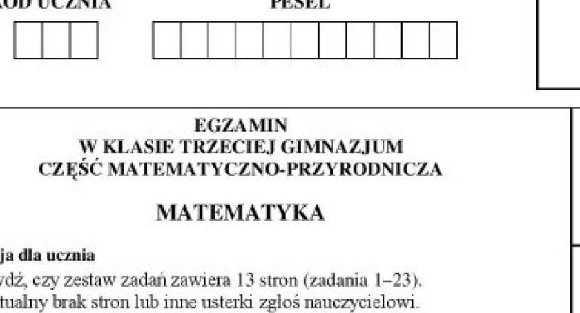 Wiadomości, poszła matma Sprawdź Toruń! [ARKUSZE EGZAMINACYJNE] - zdjęcie, fotografia