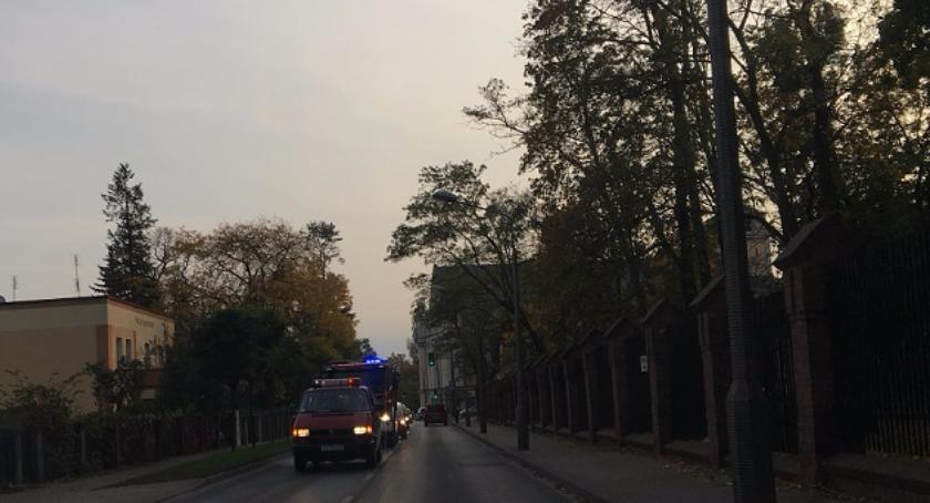 Wypadki, Uwaga korek! miejscu straż pożarna [PILNE] - zdjęcie, fotografia