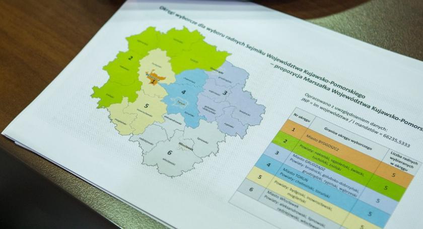 Kujawsko-Pomorskie, Marszałek pomysł okręgi wyborcze - zdjęcie, fotografia