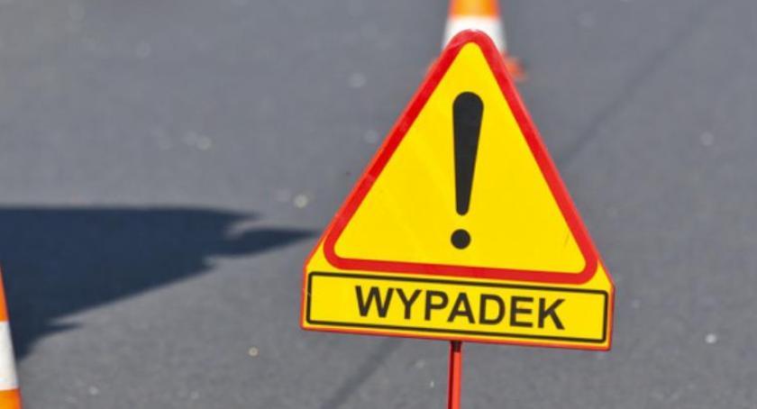 Wypadki, Wypadek Toruniem Droga zablokowana! - zdjęcie, fotografia