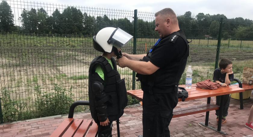 Szkoły i licea, Toruńscy policjanci wizytą Lubiczu [FOTO] - zdjęcie, fotografia