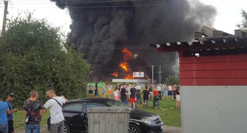 Straż pożarna, Duży pożar Toruniem akcja utrudnienia! [FOTO] - zdjęcie, fotografia
