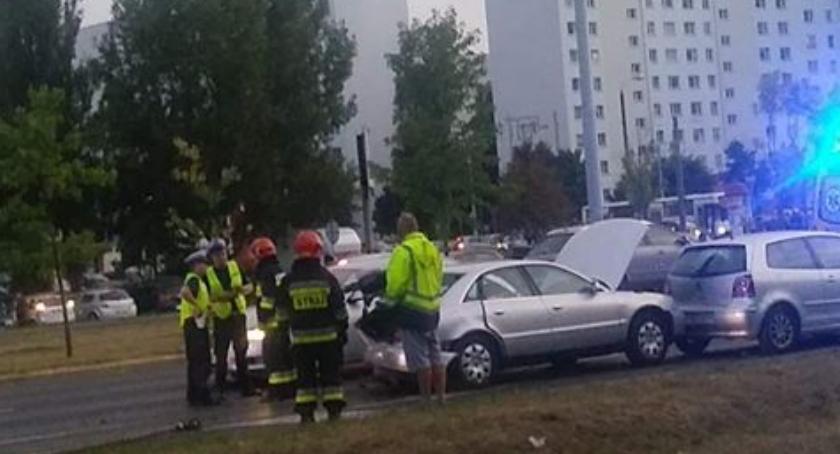 Wypadki, Karambol Szosie Lubickiej ranni sprawca wypadku pijany [PILNE] - zdjęcie, fotografia