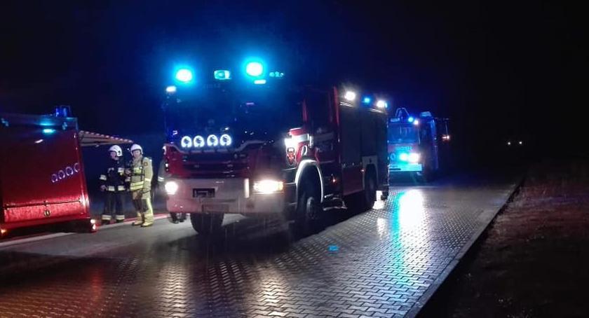 Straż pożarna, Duży pożar Toruniem zastępów straży akcji [FOTO] - zdjęcie, fotografia