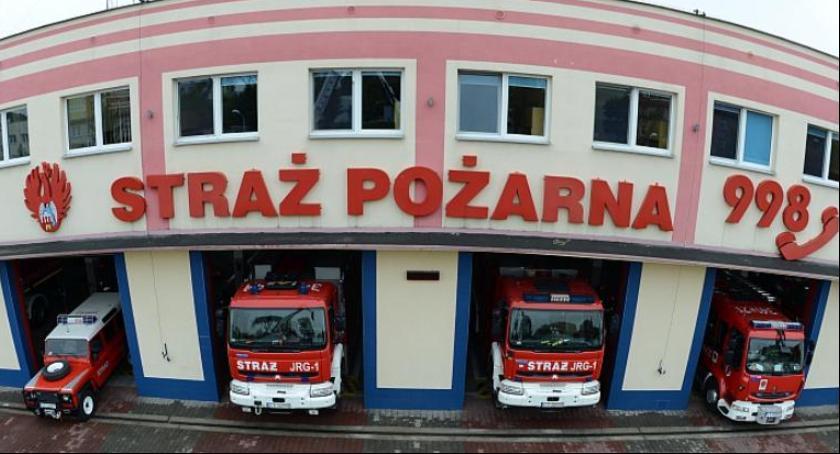 Straż pożarna, Pożar toruńskich Wrzosach Ewakuowano mieszkańców - zdjęcie, fotografia