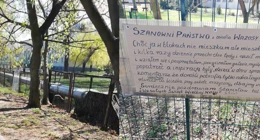 Wiadomości, Szanowni Państwo osiedla Wrzosy Urocza karteczka pozostawiona przez Stanisława - zdjęcie, fotografia