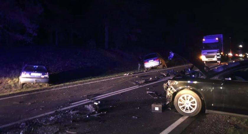 Wypadki, Nocny wypadek trasie Toruń Bydgoszcz Pięć osób rannych! - zdjęcie, fotografia