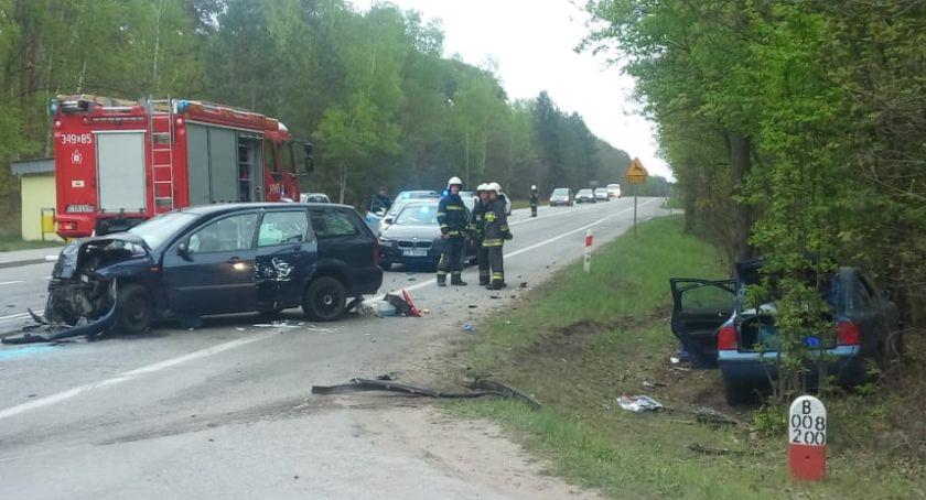 Wypadki, Wypadek Toruniem Droga całkowicie zablokowana [PILNE] - zdjęcie, fotografia