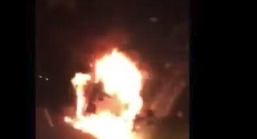 Wypadki, Dramat uczniów podtoruńskiej szkoły Podczas wycieczki spłonął autokar! [WIDEO] - zdjęcie, fotografia