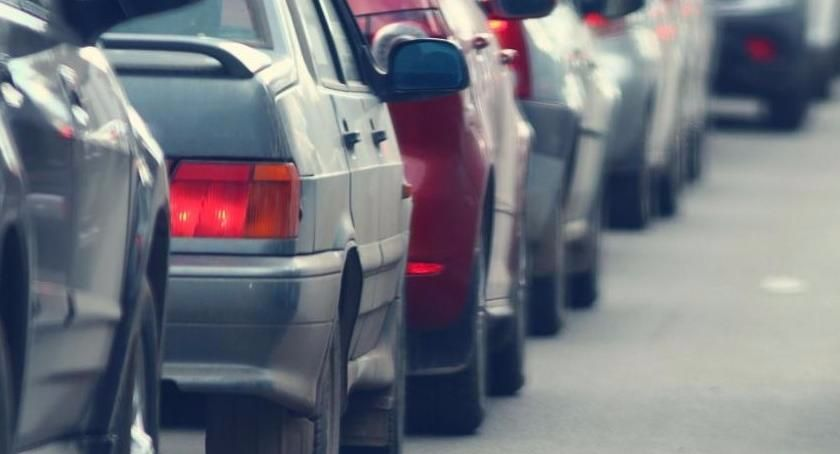 Korki i utrudnienia, Duże utrudnienia kierowców kilometrowy korek Toruniem! [PILNE] - zdjęcie, fotografia