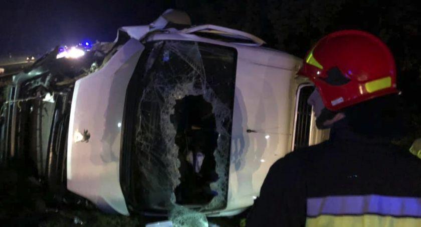 Wypadki, Nocny karambol trasie Toruń Bydgoszcz [PILNE] - zdjęcie, fotografia