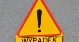 Uwaga wypadek! Całkowicie zablokowana droga