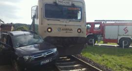 Wypadek z udziałem pociągu!