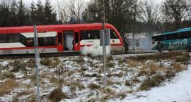 Nożownik i pożar w pociągu pod Toruniem. Co tam się działo!? [FOTO]