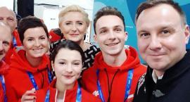 Torunianie na Olimpiadzie. Selfie i wyjątkowy prezent dla Pary Prezydenckiej! [FOTO]