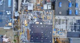 Tak wygląda budowa szpitala na Bielanach z lotu ptaka [FOTO]