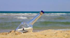 Torunianie wyłowili z morza butelkę z listem i dotarli do autorki! [FOTO]