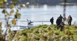 Awaryjne lądowanie samolotu na Wiśle w Toruniu [WIDEO]