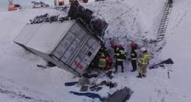 Wypadek ciężarówki. Zobacz, co dziś stało się pod Toruniem [FOTO]