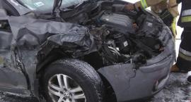 Ślizgawka na drodze! Wypadek pod Toruniem [FOTO]