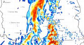 Prognoza pogody. Toruń zaznaczony na czerwono!