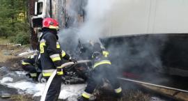 Śmiertelny wypadek na trasie Toruń-Bydgoszcz. TIR stanął w płomieniach [FOTO]