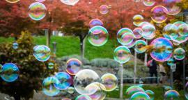 Czas na zabawę z ogromnymi bańkami mydlanymi na Bulwarze Filadelfijskim w Toruniu