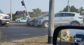 Uwaga! Na wiadukcie Kościuszki zderzyły się dwa samochody [FOTO]