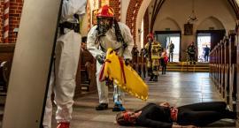 Akcja ratunkowa w kościele w Chełmży w ramach ćwiczeń KOBRA 2019 [FOTO]